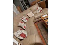 Ex DFS leather corner sofa