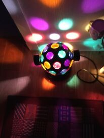 Disco Lamp with flashing lights and turns at same time