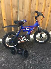 "Boys Raleigh bike 10"" wheels"