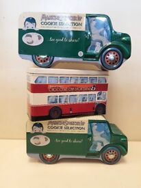 3 Large Mark & Spencer Collectable Biscuits Tins