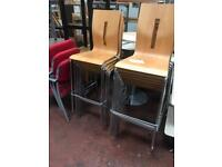 Stackable High Chairs - Chrome Legs