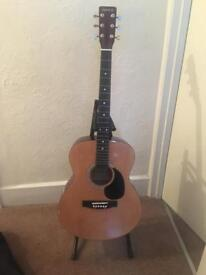 Elevation acoustic guitar and stand