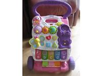 """Vtech """"PUPPY SAYS"""" First Steps Baby Walker Pink great toy 4 sale on lots of websites REDUCED TODAY"""