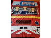 Fireman sam curtain duvet and lamp shade set