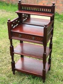 Reproduction mahogany hall stand