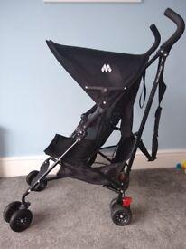 Black Lightweight Maclaren Volo Stroller Pushchair Kids Buggy with Basket - excellent condition