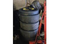 Audi rs5 rs4 s3 s4 a4 golf mk5 mk7 alloys with tyres