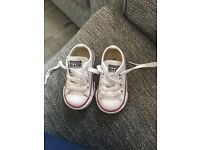 Babys White leather converse