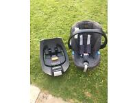 Mamas and papas cybex car seat and isofix base