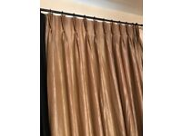Gold with black trim shimmer curtains