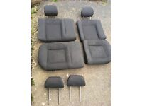 Rear seats and spare headrests for 2001 VW Polo
