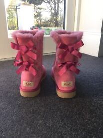 Genuine pink Ugg boots size 5