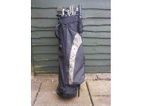 Proselect golf bag, etc