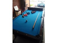 BCE pool and table tennis table