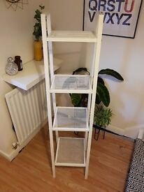 White IKEA Shelving Unit - Perfect Condition Shelves 5ft - Was £30
