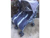 Maclaren double buggy/pushchair/stroller