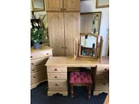 Double wardrobe, dressing table, drawers can deliver