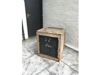 Large wooden shipping box create Vintage storage display
