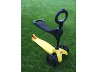 Micro Mini scooter with toddler seat and solid pull handle