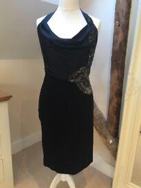 Black Karen Millen Dress with sequin detail - size 12