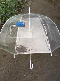 New - domed clear umbrella