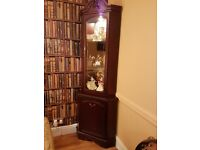 Mahogany display corner unit