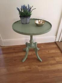 Vintage table painted in a delicate green