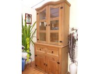 Pine Display unit and cupboard