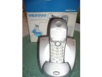 Brand new Cordless home phone (single) with docking station and answer phone.