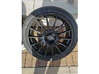 """18"""" 5x100 fox racing alloy wheels"""