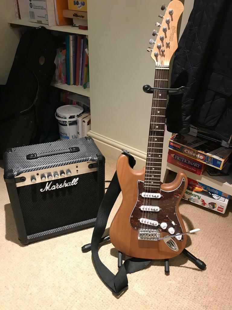 Stagg 3/4 electric guitar and Marshall Amp