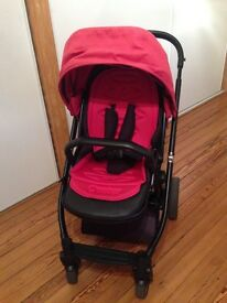 Oyster pram, carrycot and buggyboard