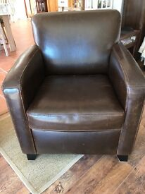 John Lewis Leather armchair