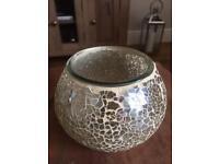 Gold crackled jar