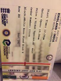 England v India cricket ODI headingly leeds 17 July tickets £50-110
