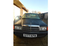 Mercedes 190e petrol automatic 2.0 Jan 2018 MOT spares or repair easy fix project non runner