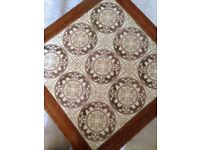 Wooden tiled coffee table can deliver.