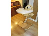 Svan High Chair with Tray Cover - Natural - Crowthorne Berkshire