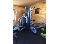 Cybex MG-525 Multigym 3 Station exercises for a full body workout–in a compact 67-square-foot area
