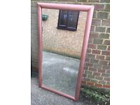 Large Painted Copper Mirror