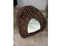 Cat bed, mini quilted home
