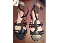 Womens leather clarks sandals for sale