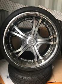 "Jap drift track 18"" alloys tyres JZ split Honda S2000 etc"