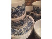 Beautiful Royal Doulton china retro tea set