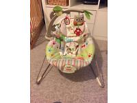 Fisher Price Woodsy Friends Bouncer - excellent condition