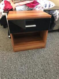Pair of bed side cabinets