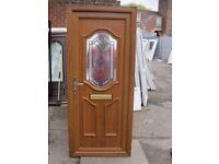 880 x 2060 Golden Oak UPVC Front Door (USED)