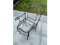 Wrought iron garden chair - upscale project