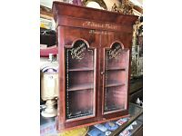 Good Quality Victorian Mahogany shop display cabinet