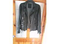 Allsaints leather jacket.New .S:XS.black